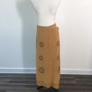 Mustard Wrap Maxi Skirt